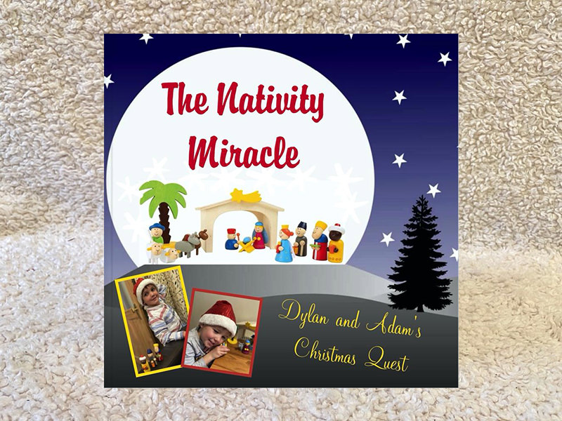 the nativity miracle personalised book for kids